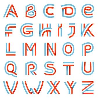 Alphabet buchstaben gesetzt.