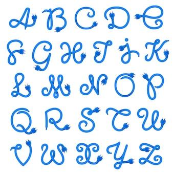 Alphabet buchstaben logo aus stecker kabel.