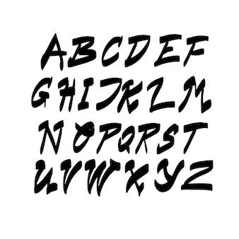 Alphabet buchstaben sammlung text schriftzug set