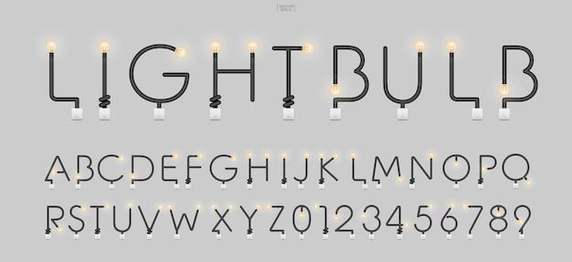 Alphabet buchstaben und zahlen im loft-stil