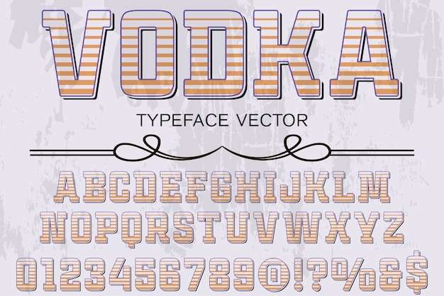 Alphabet grafikstil wodka