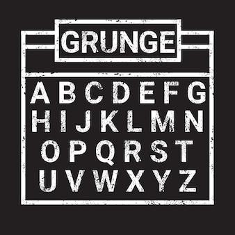 Alphabet grunge buchstaben sammlung text
