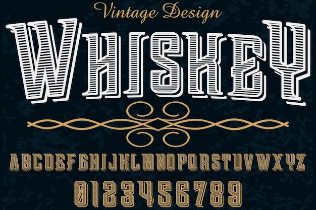 Alphabet handgefertigten schriftdesign whisky