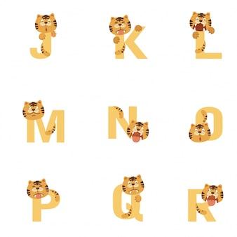 Alphabet jr tiger