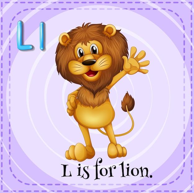 Alphabet l steht für löwe