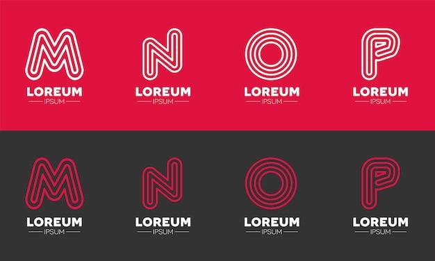 Alphabet-logo-design für die softwarefirmen
