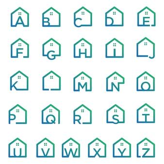 Alphabet-logo immobilien monoline