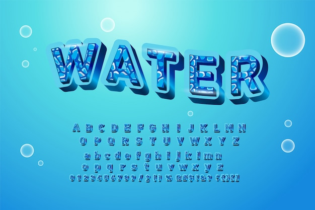 Alphabet logos mit aquarell spritzer.