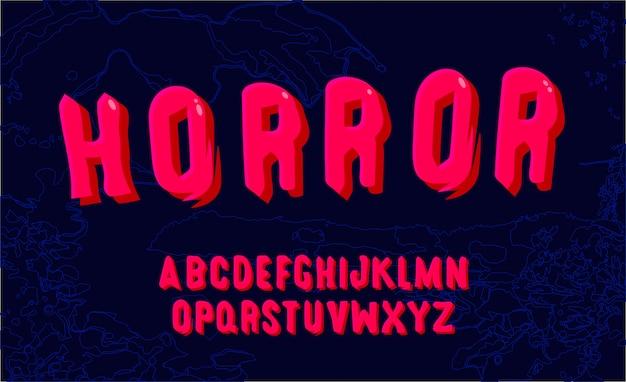 Alphabet lustiges rosa. hand gezeichnete schrift. bearbeitbarer vektor des modernen mutigen alphabetes.