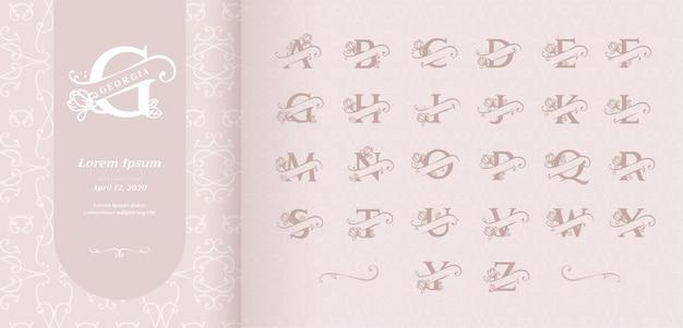Alphabet mit geteilten buchstaben