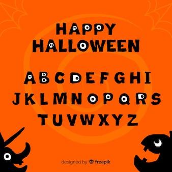 Alphabet mit halloween-zeichen