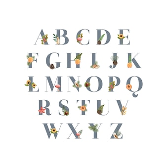 Alphabet mit herbstthema