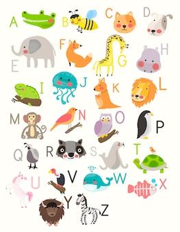 Alphabet mit tieren