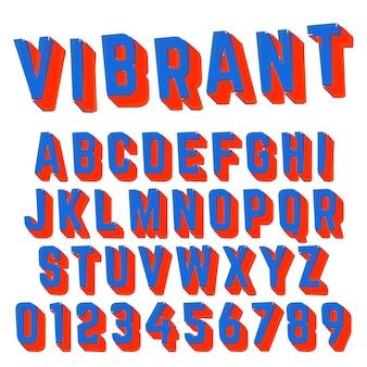 Alphabet schrift lebendige design
