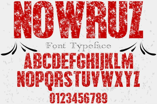 Alphabet schriftdesign nowruz