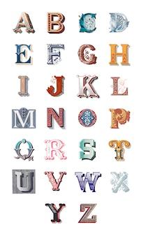Alphabet-schriftzug