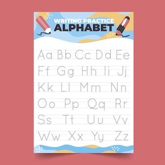 Alphabet tracing vorlage