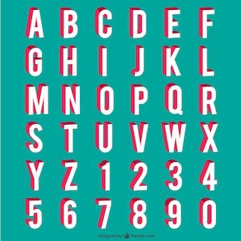 Alphabet und zahlen