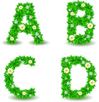 Alphabet vektor festgelegt