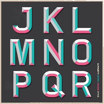 Alphabet vintage farbstil