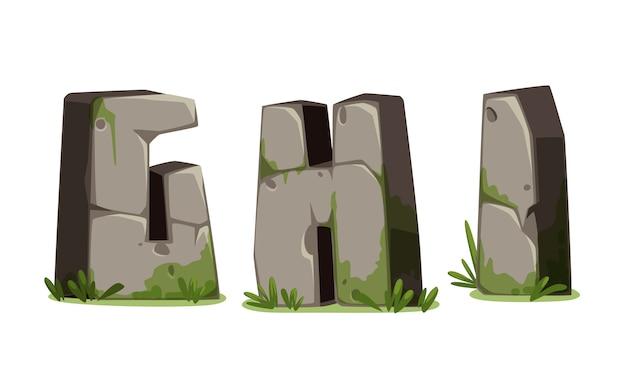 Alphabete aus stein