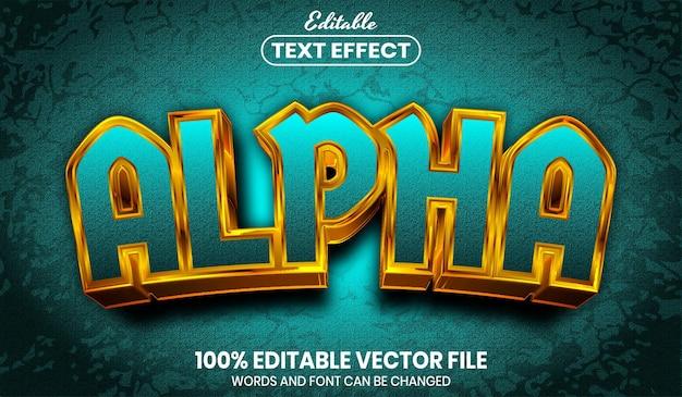 Alphatext, bearbeitbarer texteffekt