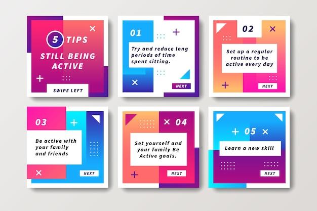 Als aktive tipps instagram-konzept