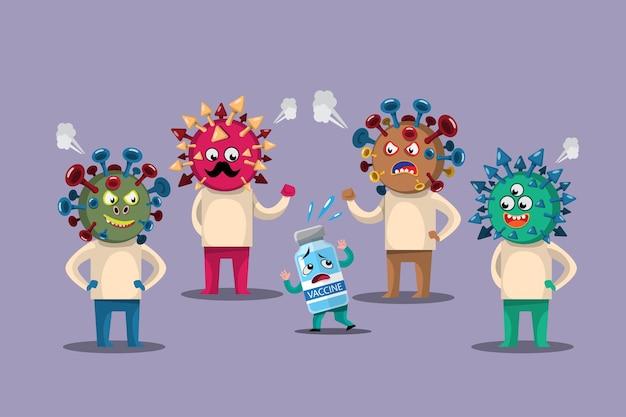 Als sich das covid-19-virus ausbreitete, wurden mutationen geschaffen, die die früheren impfstoffe daran hinderten, das virus abzutöten und zu schützen