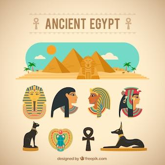 Alte ägypten-elemente
