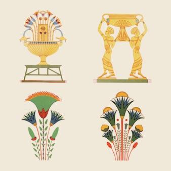 Alte ägyptische dekorative vektorelementillustration
