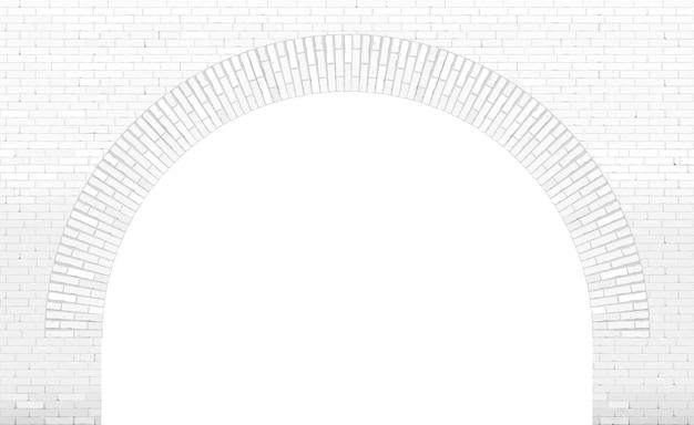 Alte backsteinbogen-dachbodenfassade alter ziegelstein