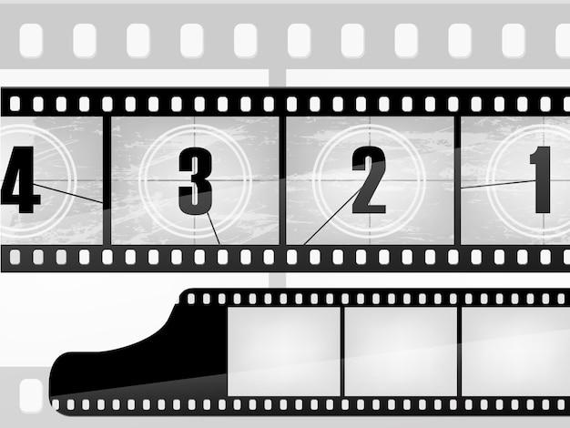 Alte film- und fotoillustration