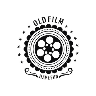 Alte film-vintage-logo-vorlage