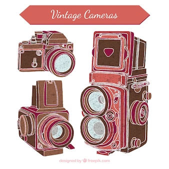 Alte fotokameras skizzen