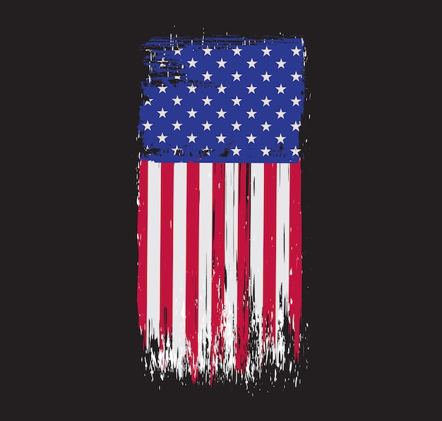 Alte grunge usa flagge