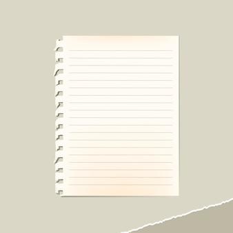 Alte leere papiernotizvorlage für soziale anzeigen