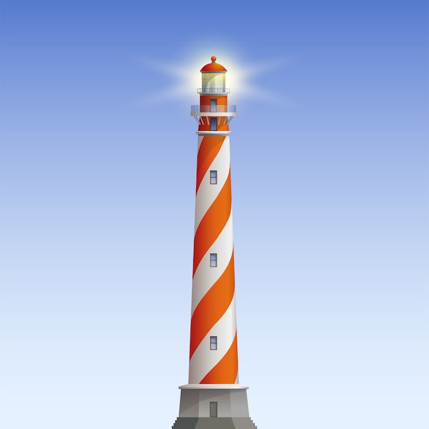 Alte leuchtturm-illustration