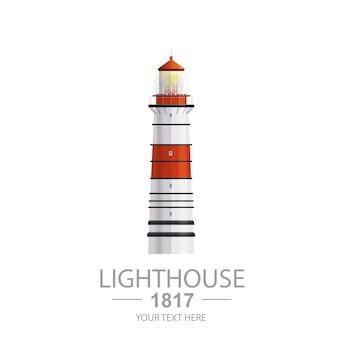 Alte leuchtturm-illustration