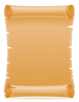Alte papierrolle-vektorillustration