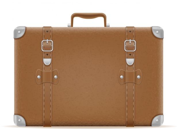 Alte retro- weinlesevektorillustration des koffers
