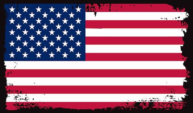 Alte schmutzige usa-flagge