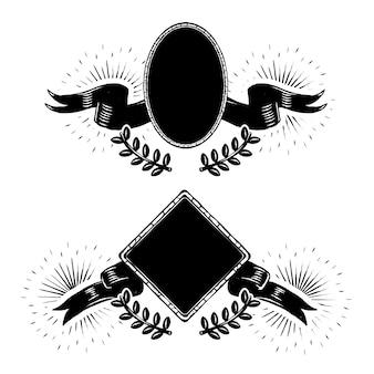 Alte schule abzeichen vektorsammlung