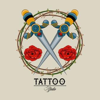 Alte schule des tattoo-studios