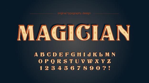 Alte schulweinlese-hölzerne typografie-gewohnheit