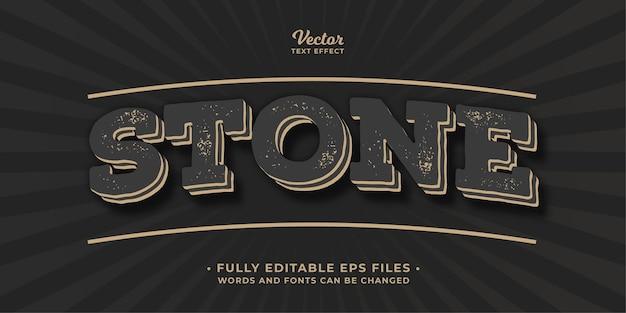Alten vintage-stein-text-effekt bearbeitbare eps cc