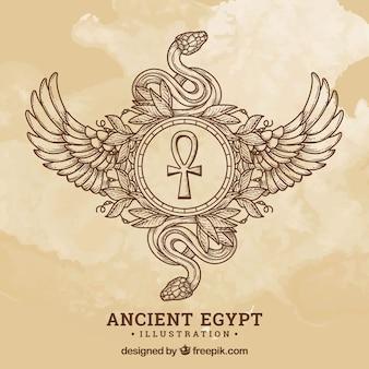 Alter ägypten-hintergrund