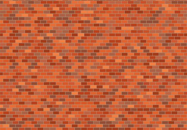 Alter backsteinmauerhintergrund. nahtloser mustervektor der beschaffenheit der roten backsteine.