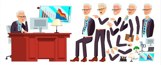 Alter büroangestellter