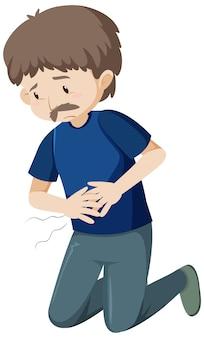 Alter mann mit bauchschmerzen