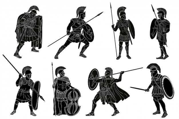 Alter römischer krieger.